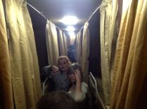inside our sleeper bus