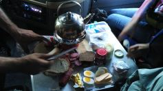 dinner in the truck