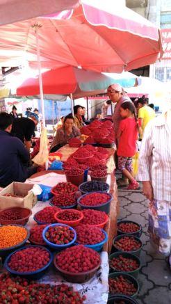 berries, kilo a dollar or something like that